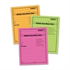 "Adams Neon While You Were Out Pads - 50 Sheet(s) - Gummed - 5"" x 4"" Sheet Size - Assorted Sheet(s) - 6 / Pack"