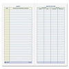 "Adams Vehicle Mileage Log - 64 Sheet(s) - 6.25"" x 3.25"" Sheet Size - White Sheet(s) - 1 Each"