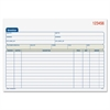 """Adams Carbonless Invoice Book - Tape Bound - 2 Part - Carbonless Copy - 5.56"""" x 7.93"""" Sheet Size - 2 x Holes - Assorted Sheet(s) - 1 Each"""
