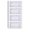 "Adams Spiralbound Service Call Book - Spiral Bound - 2 Part - Carbonless Copy - 11"" x 5.25"" Sheet Size - 1 Each"