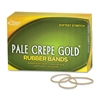 "Alliance Rubber 20165 Pale Crepe Gold Rubber Bands - Size #16 - 1 lb Box - Approx. 2675 Bands - 2 1/2"" x 1/16"" - Golden Crepe"