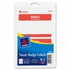 "Name Badge Label - Removable Adhesive - ""Hello My Name Is"" - 2.34"" Width x 3.37"" Length - 2 / Sheet - Rectangle - Laser, Inkjet - Red - 100 / Pack"