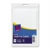 "Avery White Removable Multi-Use Labels - Removable Adhesive - 0.31"" Width x 0.50"" Length - Rectangle - White - Paper - 1000 / Pack"