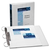 "Avery Flip Back Reference View Binder - 1 1/2"" Binder Capacity - Letter - 8 1/2"" x 11"" Sheet Size - 275 Sheet Capacity - 3 x Round Ring Fastener(s) - 4 Pocket(s) - Vinyl - White - Recycled - 1 Each"