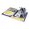 "Avery Flexi-View Presentation Book - Letter - 9 1/2"" x 11 1/2"", 8 1/2"" x 11"" Sheet Size - 12 Sheet Capacity - Internal Pocket(s) - Polypropylene - Blue - 1 Each"
