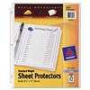 "Avery Standard Weight Sheet Protector - For Letter 8.50"" x 11"" Sheet - Clear - Polypropylene - 25 / Pack"