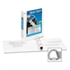 """Avery One-Touch EZD Ring Hvy-duty View Binder - 1 1/2"""" Binder Capacity - Letter - 8 1/2"""" x 11"""" Sheet Size - 400 Sheet Capacity - 3 x D-Ring Fastener(s) - 4 Internal Pocket(s) - Chipboard, Polypropylen"""