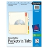 "Insertable 5-Tab Dividers - 5 Tab(s) - 5 Tab(s)/Set - 8.88"" Divider Width x 11"" Divider Length - Assorted Divider - Multicolor Tab(s) - 5 / Set"