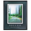 "Advantus Success Motivational Poster - 24"" Width x 30"" Height - Black Frame"
