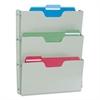 "Buddy Triple Wall Pocket - 3 Pocket(s) - 17.5"" Height x 14.5"" Width x 2.5"" Depth - Wall Mountable, Door-mountable - Platinum - Steel - 1Each"