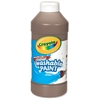 Crayola Washable Paint - 16 oz - 1 Each - Brown