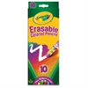 Crayola Erasable Colored Pencil - Assorted Lead - 10 / Pack