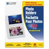 "3-Hole Polypropylene Photo Protector - 4 Capacity - 6"" x 4"" - 3-ring Binding - 3-Hole Punched"""