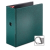"Cardinal Prestige Locking D-Ring Binders - 5"" Binder Capacity - Letter - 8 1/2"" x 11"" Sheet Size - 1100 Sheet Capacity - 3 x D-Ring Fastener(s) - 2 Inside Front & Back Pocket(s) - Vinyl - Evergreen -"