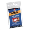 "HOLD IT Business Card Pocket, Side Open, 3-3/4"" x 2-3/8"", 10/BG - Polypropylene - 10 / Pack - Clear"