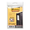 "Cardinal HOLDit! Label Holders - 1.4"" x 3"" - 12 / Pack - Clear"
