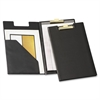 "Sealed Vinyl Clip Padfolio - Legal - 8 1/2"" x 14"" Sheet Size - 100 Sheet Capacity - 1 Inside Front Pocket(s) - Vinyl, Polyvinyl Chloride (PVC) - Black - 1 Each"