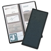 "Cardinal Westport Bus/Credit/Phone Card Files - 96 Capacity - 4.25"" Width x 10.38"" Length - Black Vinyl Cover"