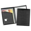 "Cardinal Business Basic Desk Pad Holder - Letter - 9 1/2"" x 12 1/2"" Sheet Size - 100 Sheet Capacity - 1 Inside Front Pocket(s) - Vinyl, Polyvinyl Chloride (PVC) - Black - 1 Each"