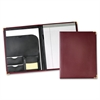 "Sewn Vinyl Padholder - Letter - 12 3/4"" x 10"" Sheet Size - 20 Sheet Capacity - 1 Internal Pocket(s) - Vinyl, Polyvinyl Chloride (PVC), Leather - Burgundy - 1 Each"