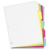 "Cardinal Write 'N Erase Mylar Tab Dividers - 5 x Divider(s) - Write-on Tab(s) - 5 Tab(s)/Set - 9"" Divider Width x 11"" Divider Length - Letter - 8.50"" Width x 11"" Length - White Divider - Multicolor My"