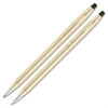 Cross Classic Century Gold Filled Pen/Pencil Set - Medium Pen Point Type - 0.5 mm Pen Point Size - 0.7 mm Lead Size - Refillable - Gold Ink - Gold Barrel - 2 / Set