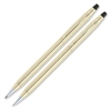 Cross Gold Classic Century Pen/Pencil Set - Medium Pen Point Type - 0.7 mm Lead Size - Refillable - Gold Ink - Gold Barrel - 2 / Set