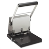 "Heavy-Duty 3 Hole Punch - 3 Punch Head(s) - 300 Sheet Capacity - 9/32"" Punch Size - Platinum"