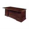 "DMi Governor's Box/File Executive Desk - 72"" x 36"" x 30"" - 2 x Box Drawer(s), File Drawer(s) - 1 Shelve(s) - Double Pedestal - Material: Pressboard - Finish: Laminate, Mahogany"