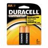 Duracell CopperTop Alkaline AA Batteries - AA - Alkaline - 1.5 V DC - 2 / Pack