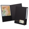 "Oxford Monogram Executive Portfolio - 1/2"" Folder Capacity - Letter - 8 1/2"" x 11"" Sheet Size - 80 Sheet Capacity - 2 Front Pocket(s) - Linen - Black, Gold - 4 / Pack"