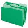 "Two-Tone Color File Folder - Legal - 8 1/2"" x 14"" Sheet Size - 1/3 Tab Cut - Assorted Position Tab Location - 11 pt. Folder Thickness - Light Green - 100 / Box"