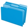 "Two-Tone Color File Folder - Legal - 8 1/2"" x 14"" Sheet Size - 1/3 Tab Cut - Assorted Position Tab Location - 11 pt. Folder Thickness - Blue - 100 / Box"