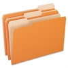 "Two-Tone Color File Folder - Legal - 8 1/2"" x 14"" Sheet Size - 1/3 Tab Cut - Assorted Position Tab Location - 11 pt. Folder Thickness - Orange - 100 / Box"