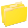 "Two-Tone Color File Folder - Legal - 8 1/2"" x 14"" Sheet Size - 1/3 Tab Cut - Assorted Position Tab Location - 11 pt. Folder Thickness - Yellow - 100 / Box"