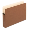 "Expanding File Pocket - Letter - 8 1/2"" x 11"" Sheet Size - 5 1/4"" Expansion - Manila, Red Fiber - Recycled - 10 / Box"