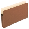 "Pendaflex Redrope File Pockets - Legal - 8 1/2"" x 14"" Sheet Size - 5 1/4"" Expansion - Manila, Red Fiber - 6.40 oz - Recycled"