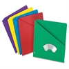 "Pendaflex Essentials Slash Pocket Folder - For Letter 8.50"" x 11"" Sheet - Multi - 25 / Pack"