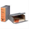 "Pendaflex Oxford Box File - Internal Dimensions: 2.50"" Depth - External Dimensions: 11.6"" Width x 2.3"" Depth x 11"" Height - Media Size Supported: Letter - Hinged Closure - Black Marble, Orange - For F"