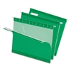 "Hanging Folder - Letter - 8 1/2"" x 11"" Sheet Size - 1/5 Tab Cut - Bright Green - 25 / Box"