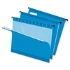 "Hanging Folder - Letter - 8 1/2"" x 11"" Sheet Size - 1/5 Tab Cut - Blue - 25 / Box"