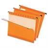 "Pendaflex Reinforced Hanging Folders - Letter - 8 1/2"" x 11"" Sheet Size - 1/5 Tab Cut - Orange - 25 / Box"
