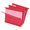 "Pendaflex Reinforced Hanging Folders - Letter - 8 1/2"" x 11"" Sheet Size - 1/5 Tab Cut - Red - 25 / Box"