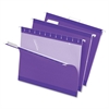 "Pendaflex Hanging Folder - Letter - 8 1/2"" x 11"" Sheet Size - 1/5 Tab Cut - Violet - 25 / Box"