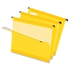 "Pendaflex Reinforced Hanging Folders - Letter - 8 1/2"" x 11"" Sheet Size - 1/5 Tab Cut - Yellow - 25 / Box"