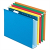 "Colored Box Bottom Hanging Folder - 2"" Folder Capacity - 2"" Binder Capacity - Letter - 8 1/2"" x 11"" Sheet Size - 1 Internal Pocket(s) - Pressboard - Assorted - 25 / Box"