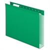 "Pendaflex Colored Box Bottom Hanging Folder - Letter - 8.50"" x 11"" Sheet Size - Ring Fastener - 2"" Fastener Capacity for Folder - 1 Internal Pocket(s) - Pressboard - Light Green - Recycled - 25 / Box"