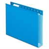 "Colored Box Bottom Hanging Folder - 2"" Folder Capacity - Letter - 8 1/2"" x 11"" Sheet Size - Folder - Pressboard - Blue - 25 / Box"