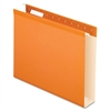 "Colored Box Bottom Hanging Folder - 2"" Folder Capacity - Letter - 8 1/2"" x 11"" Sheet Size - 1 Internal Pocket(s) - Pressboard - Orange - 25 / Box"