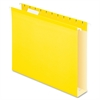 "Colored Box Bottom Hanging Folder - 2"" Folder Capacity - Letter - 8 1/2"" x 11"" Sheet Size - Folder - Pressboard - Yellow - 25 / Box"